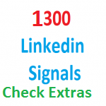 1300+Linkedin social bookmarking Real Seo Social Signals with split also available