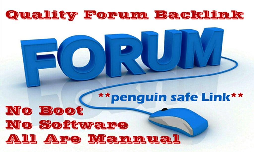 Get 40 HIGH QUALITY Forum Profile Posting Links