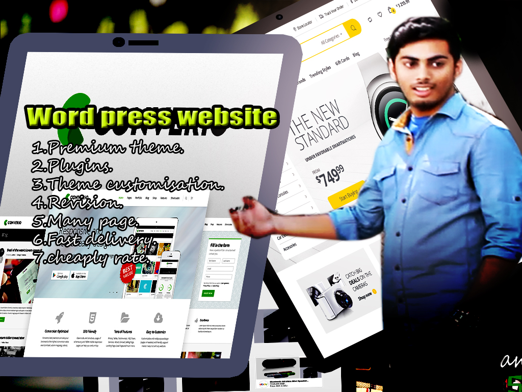 make a wordpress Website for you