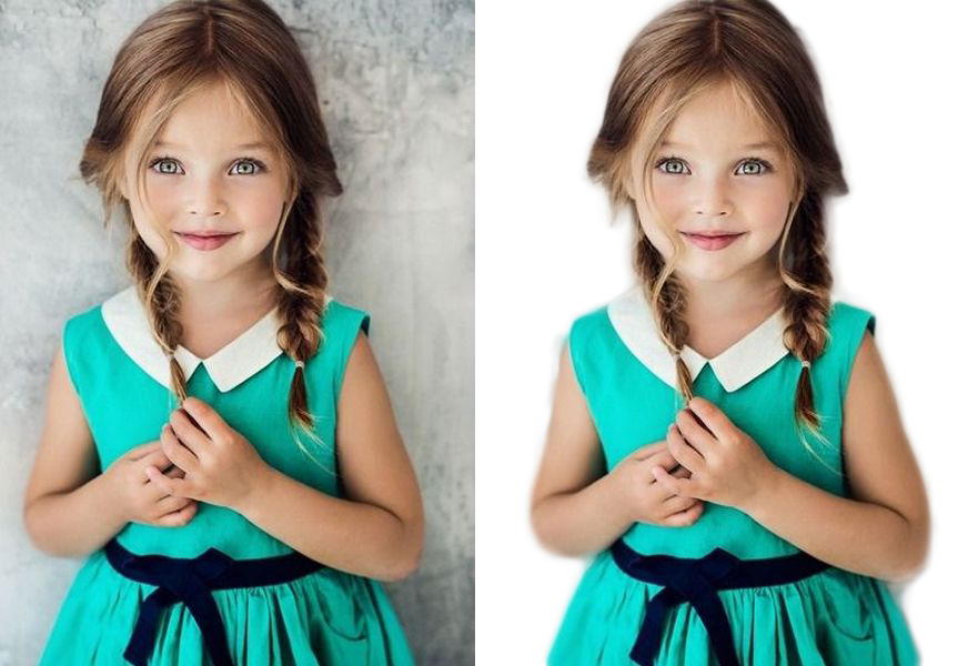 REMOVE Background of 5 images with White or Transparent