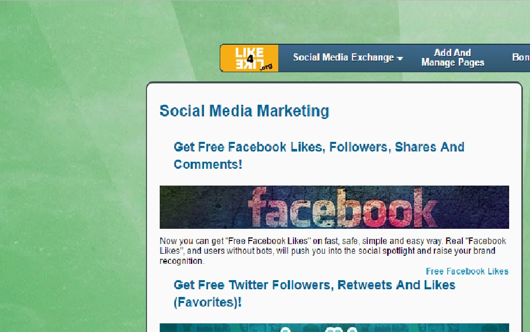 Free facebook likes followers shares amp comments exchange