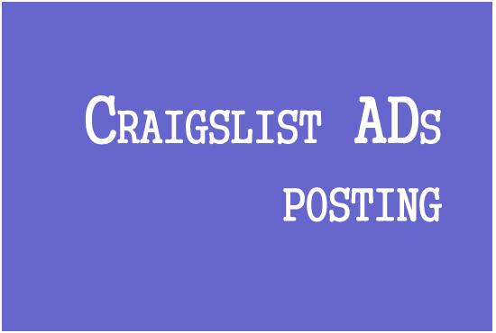 Do 10 Craigslist Advertising For all Section
