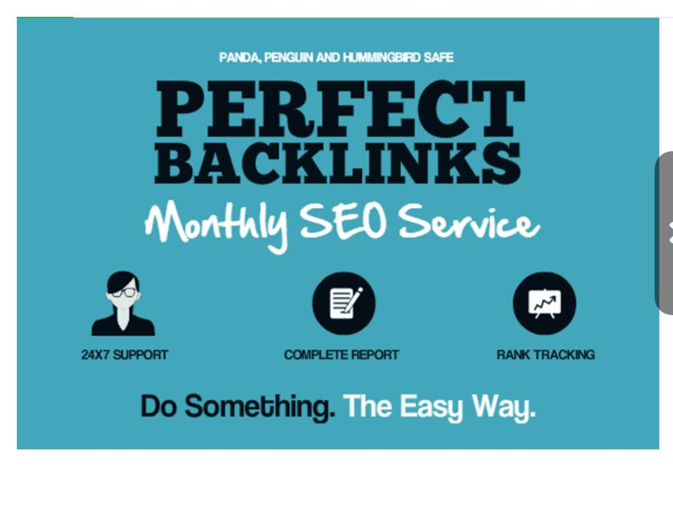 Create Perfect Backlinks, Monthly SEO Service