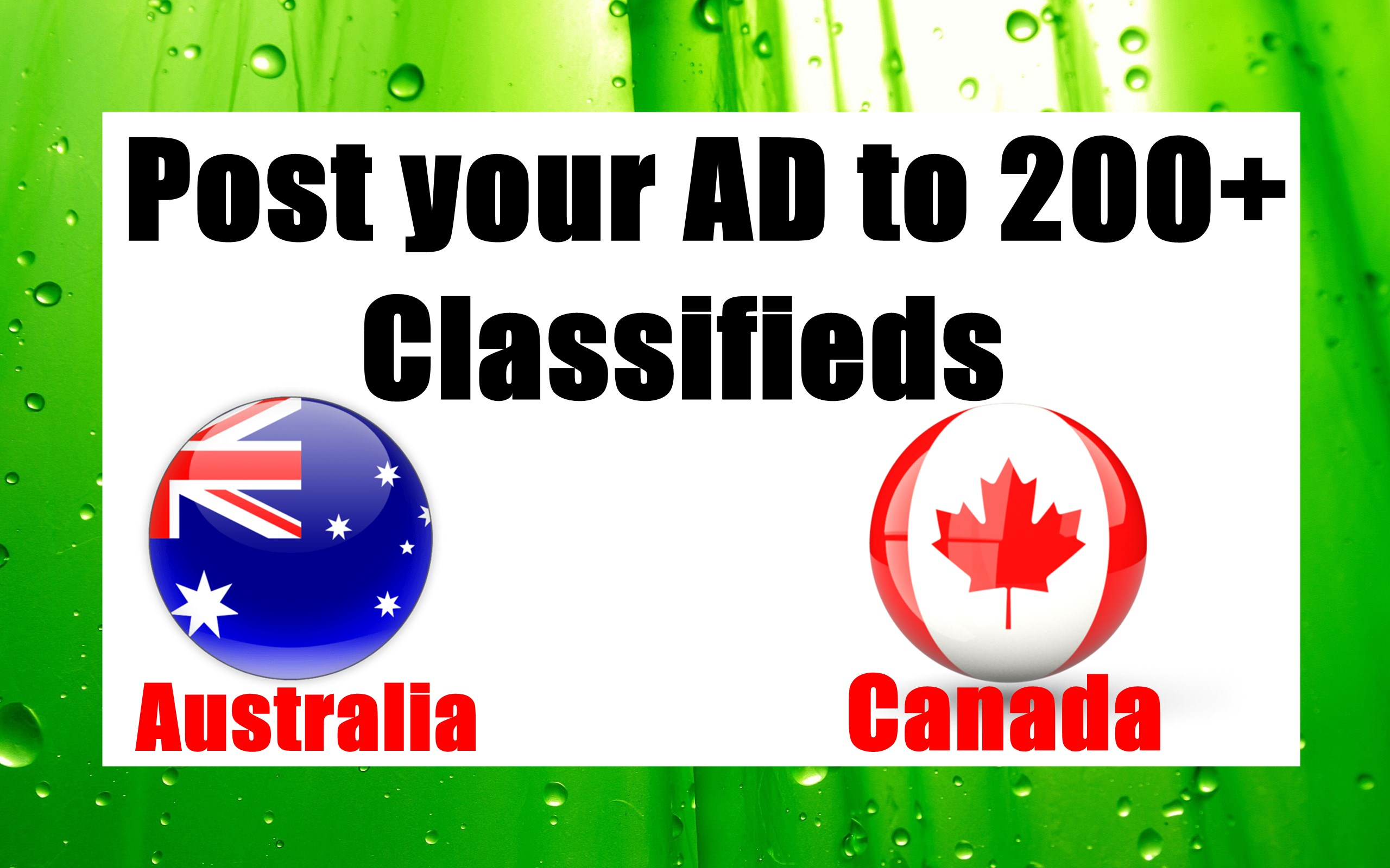 Post your AD to 200+ Classifieds from Canada,Australia,NZ