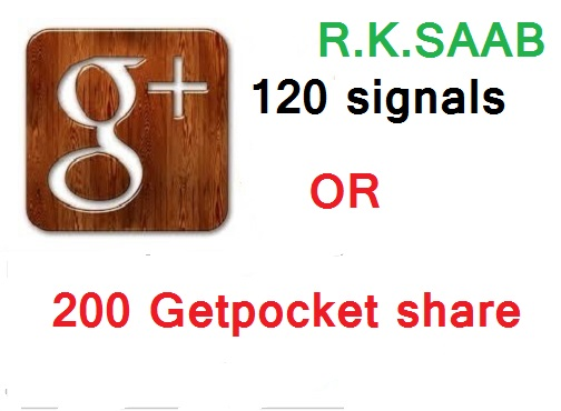 seo signals 120+ google+ plus share OR 200 Getpocket  share