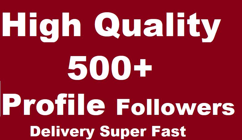 500 Social Profile Followers High Quality Super Fast