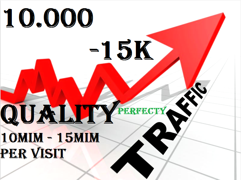 10K-15k Web Traffic quality To Your Website 12mim-15mim per visite,  Blog or Affiliate Link for