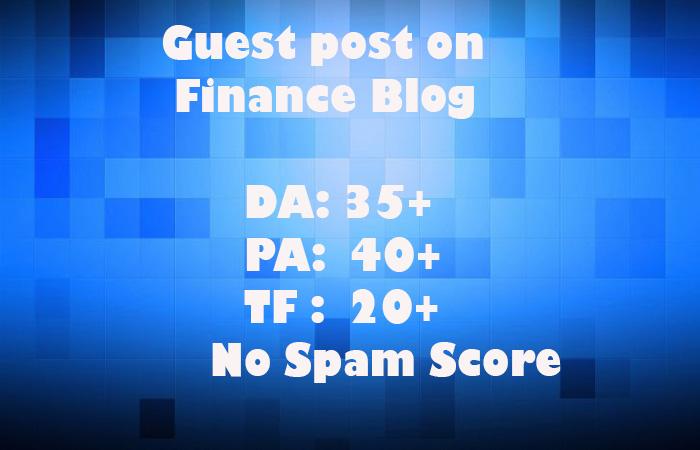 Publish 8 Guest Posts On 8 Finance Blogs DA 35