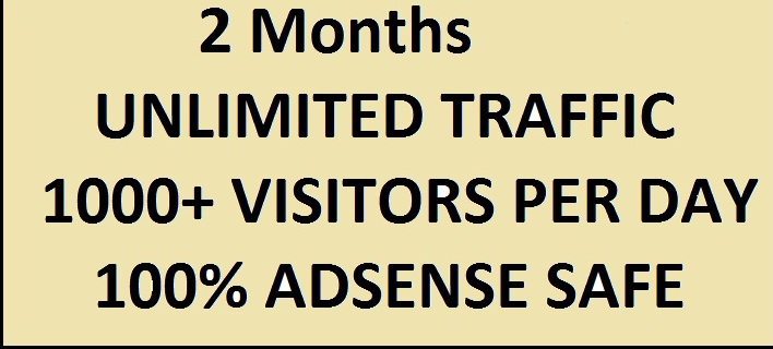 Unlimited Real HUMAN TRAFFIC for 7 Months