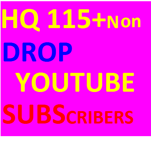 Real& active HQ 115 +Non drop youtube subscribers fast delivery
