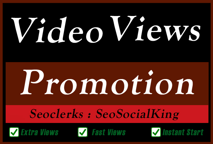 Organic Video Views Likes Coments Promotion and Seo Marketing for Ranking