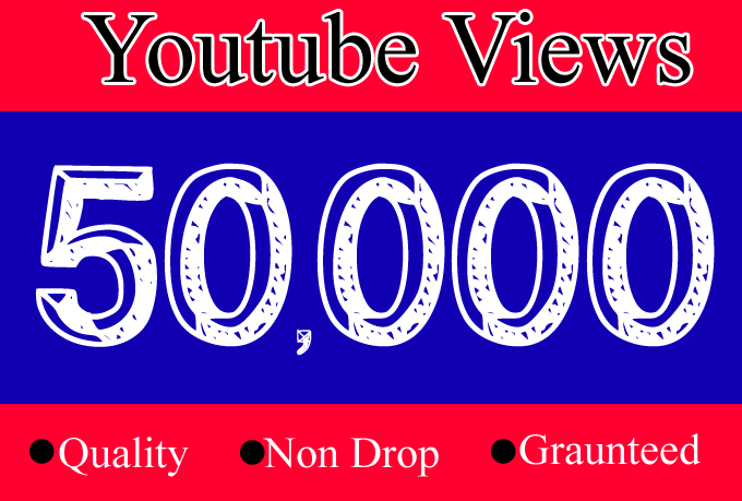 50K YouTube Views with 100 Likes Or 50,000 Or 50000 Youtube Video Views