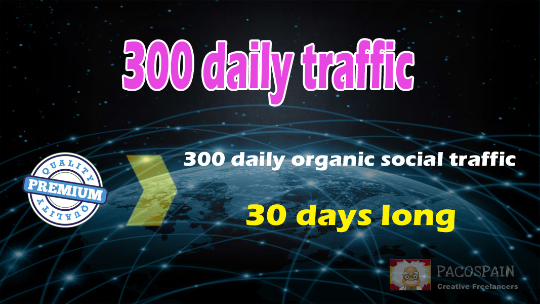 300 organic & social WEB TRAFFIC for your site