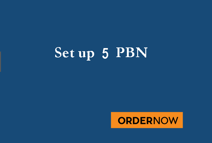 will setup your Five pbn niche websites Optimized for 2018