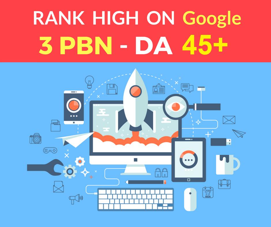 I provide You Spam Free 3 PBN Posts High Metrics Doma...