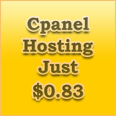 1 year cPanel hosting at a great price of just $0.83 a month