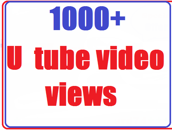 1000+ video views high quality very fastest complete