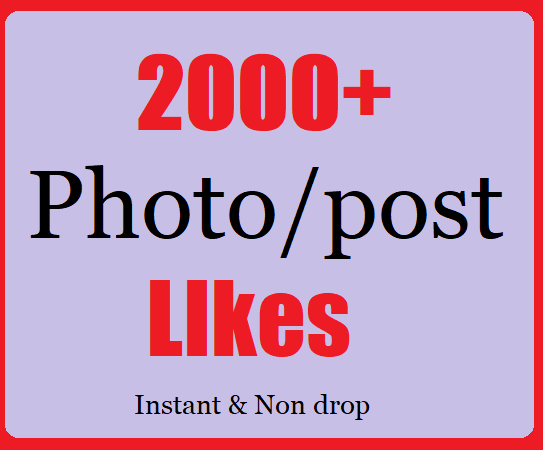2000+ Social likes in post High Quality