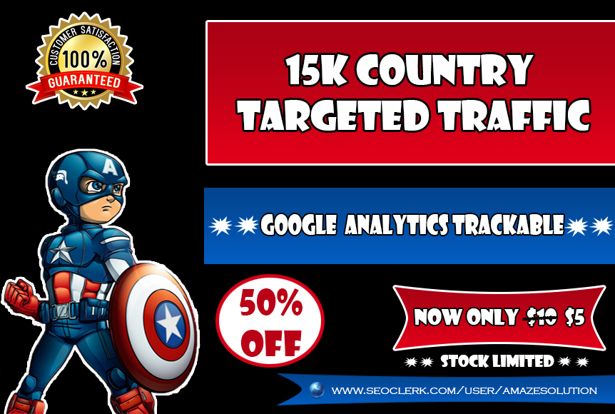 15k Country TARGETED Traffic for You Website
