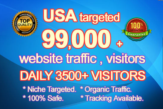 I Will Drive 99000 USA Targeted Organic Website Visitors Traffic