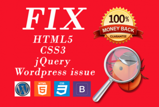 I can fix any HTML/CSS bug