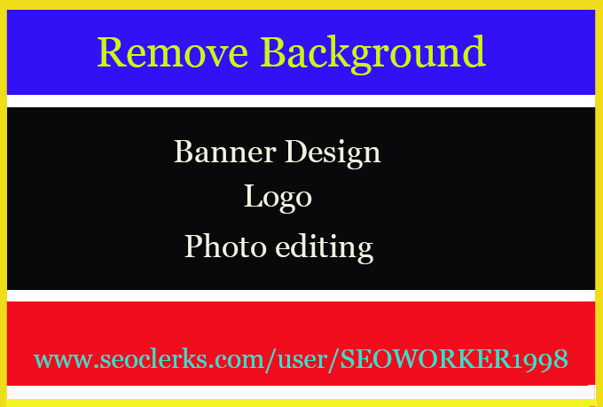 PHOTOSHOP editing, remove background or Retouch for pictures ( 5 Image )
