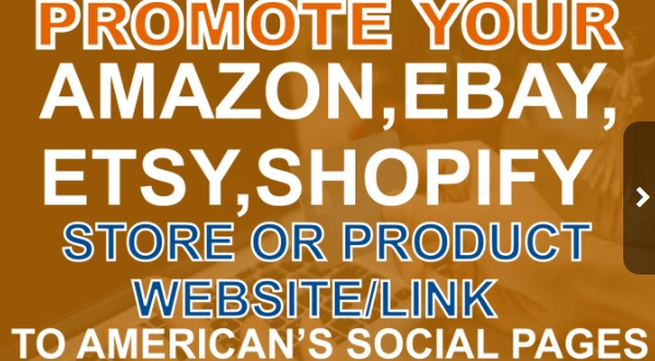 Promote Your Amazon Ebay Etsy Shopify Store Products To Usa Peoples