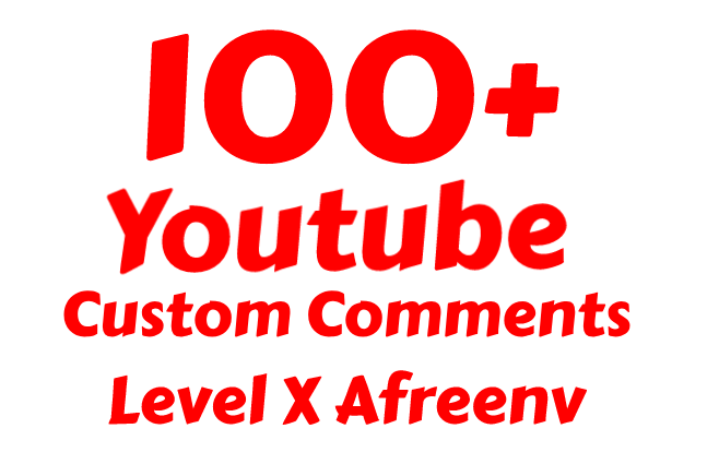 add 80-100+ Real and Instant Youtube Custom Com ments