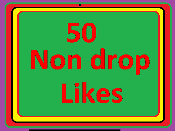 INSTANT FAST 50 likes non drop very fast delivery