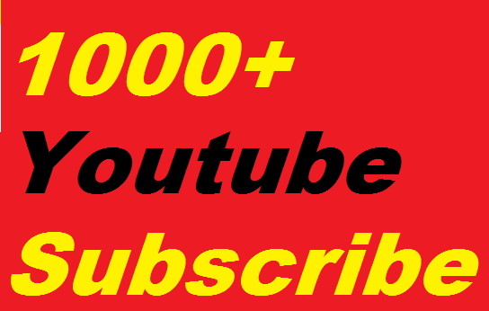 1000+You'Tube Subscribers Non drop Refill guaranteed