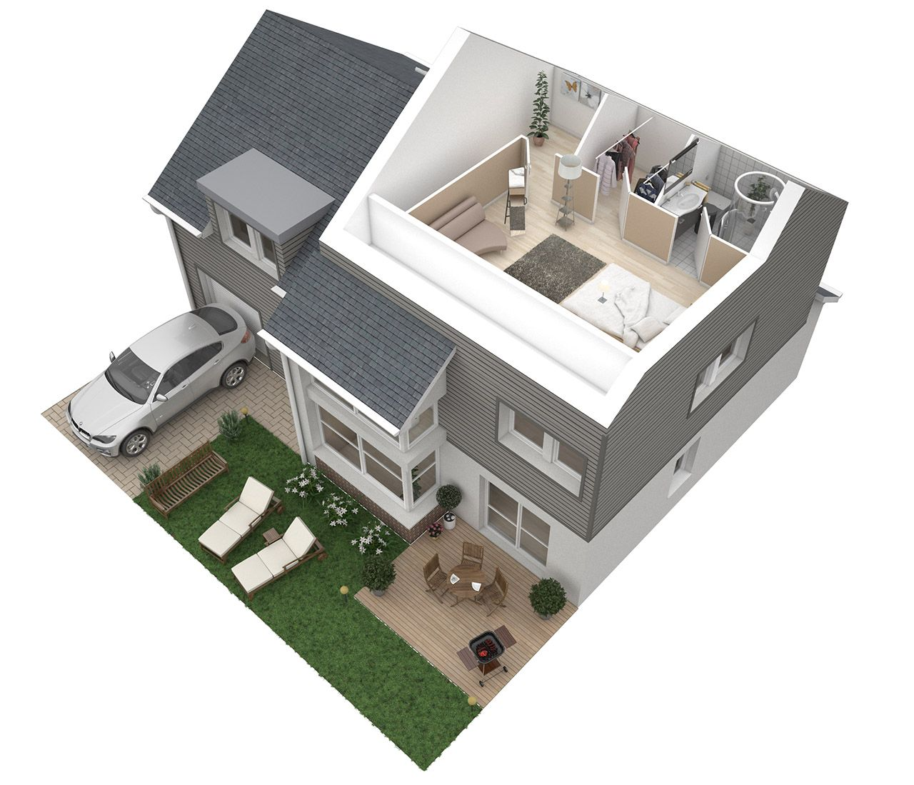Simulation maison 3d gratuit maison moderne for Simulation construction maison 3d gratuit