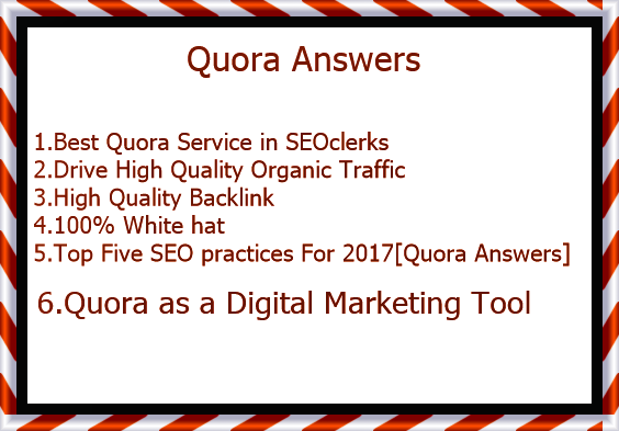 Promote your website in 10 Quora answers for increase your site traffic.