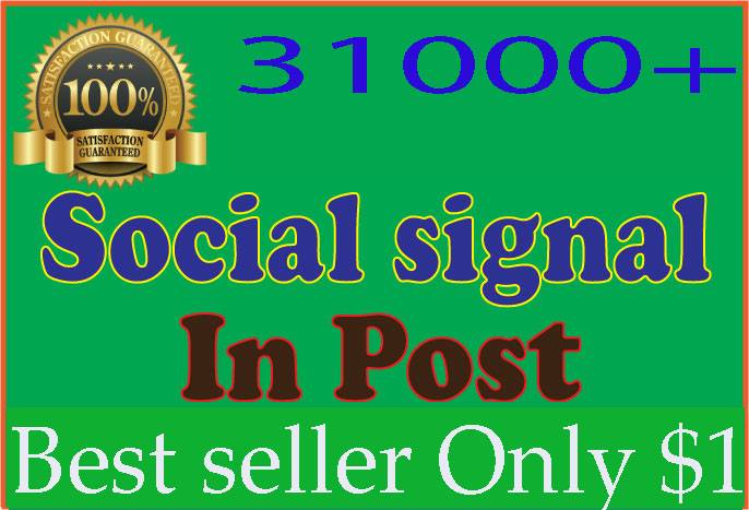 1,000+ most social signals From best top 4 social media sites