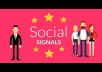 16000+ most social signals From best top 4 social media sites