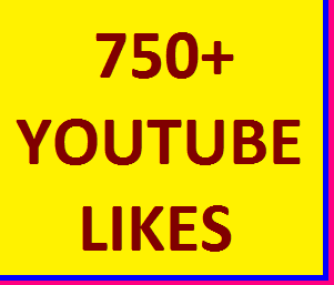 750+YOUTUBE VIDEO LIKES SUPER FAST DELIVERY