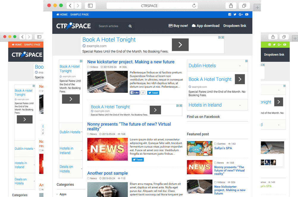 Smart Adsense High CTR Wordpress Theme - CTRSpace