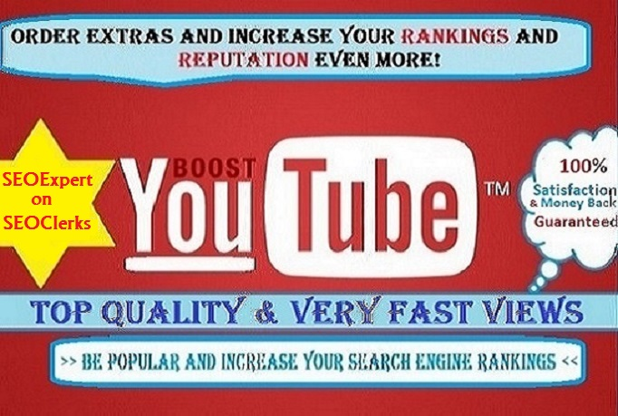 Give you 2,000+ Guaranteed and Safe Youtube VIEWS in 24~48 Hours