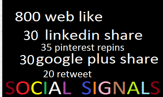 i will give you 810 social signals top sites