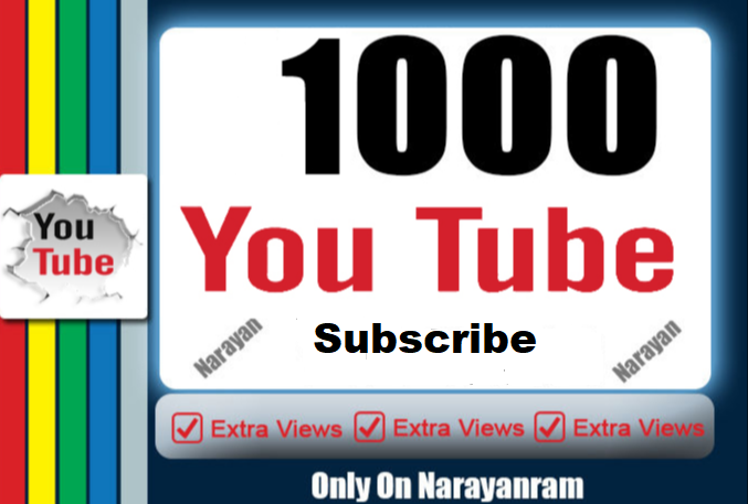 I will add 1000+ Youtube Subs - criber Manually Instant Start