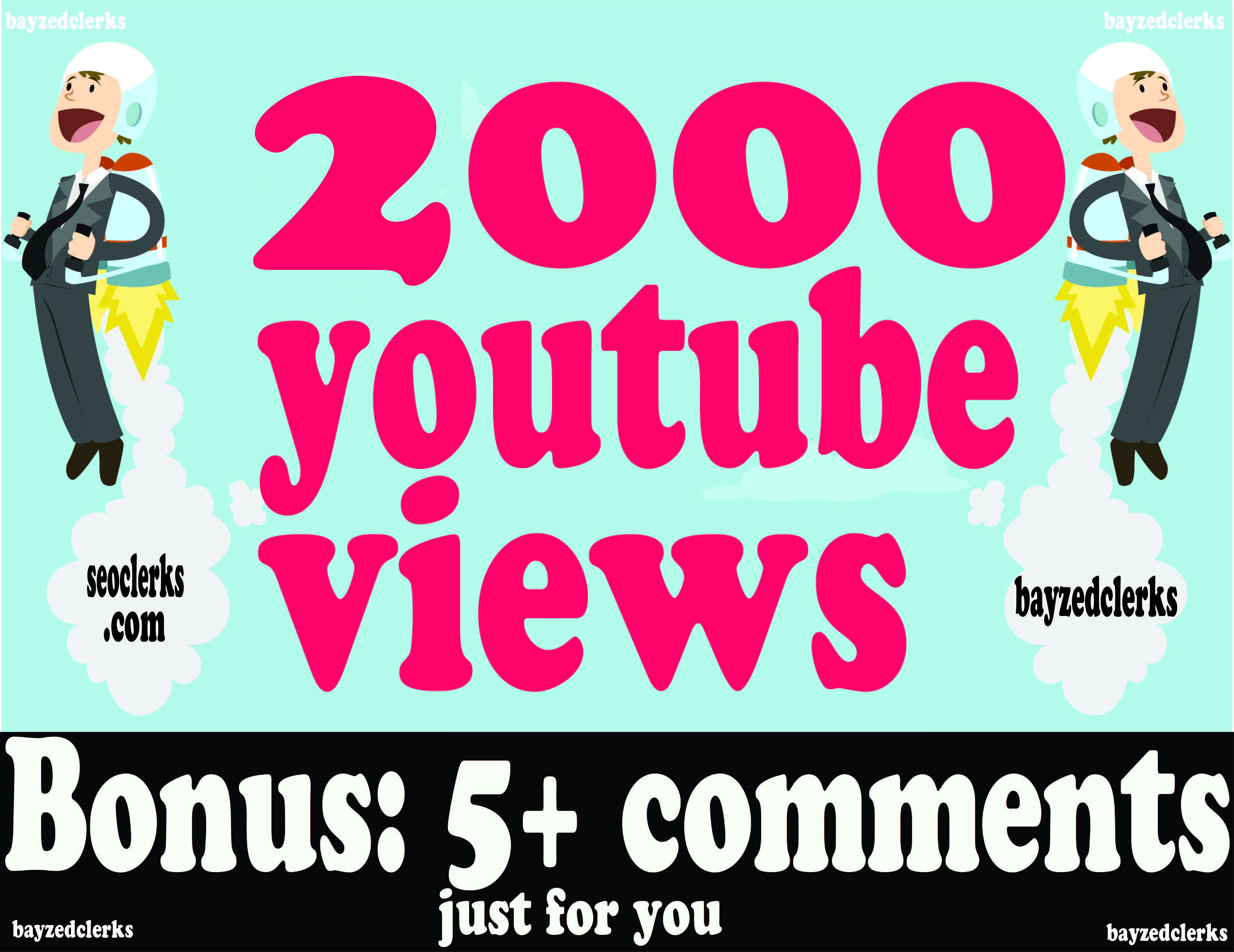 Guaranteed 1000+ or 1k+ youtube views non drop. instant start and fast delivery