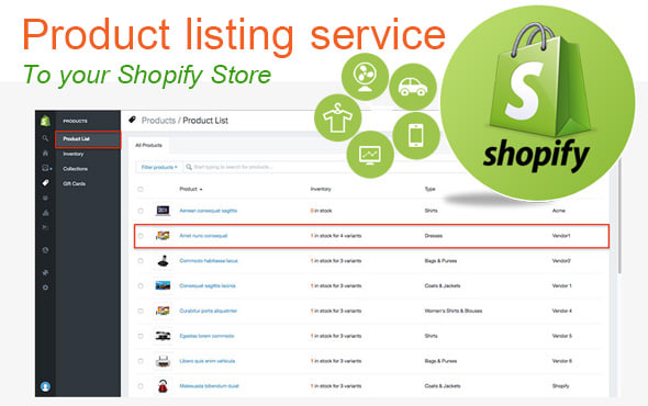 list 10 Product on shopify store