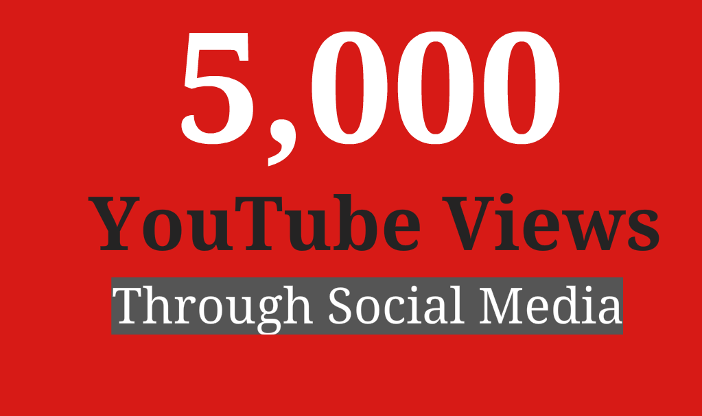 5000 YouTube High, ACTIVE Service, Fast Delivery & Lifetime Refill