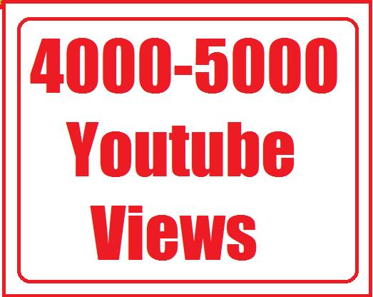 4000 to 5000  Youtube views + 200 likes+ 10 custom comment Safe and Nondrop Very Fast instant