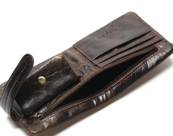 Genuine Cow Leather Men Wallet