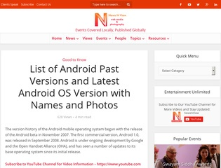 List of Android Versions Sponsored Blog Review