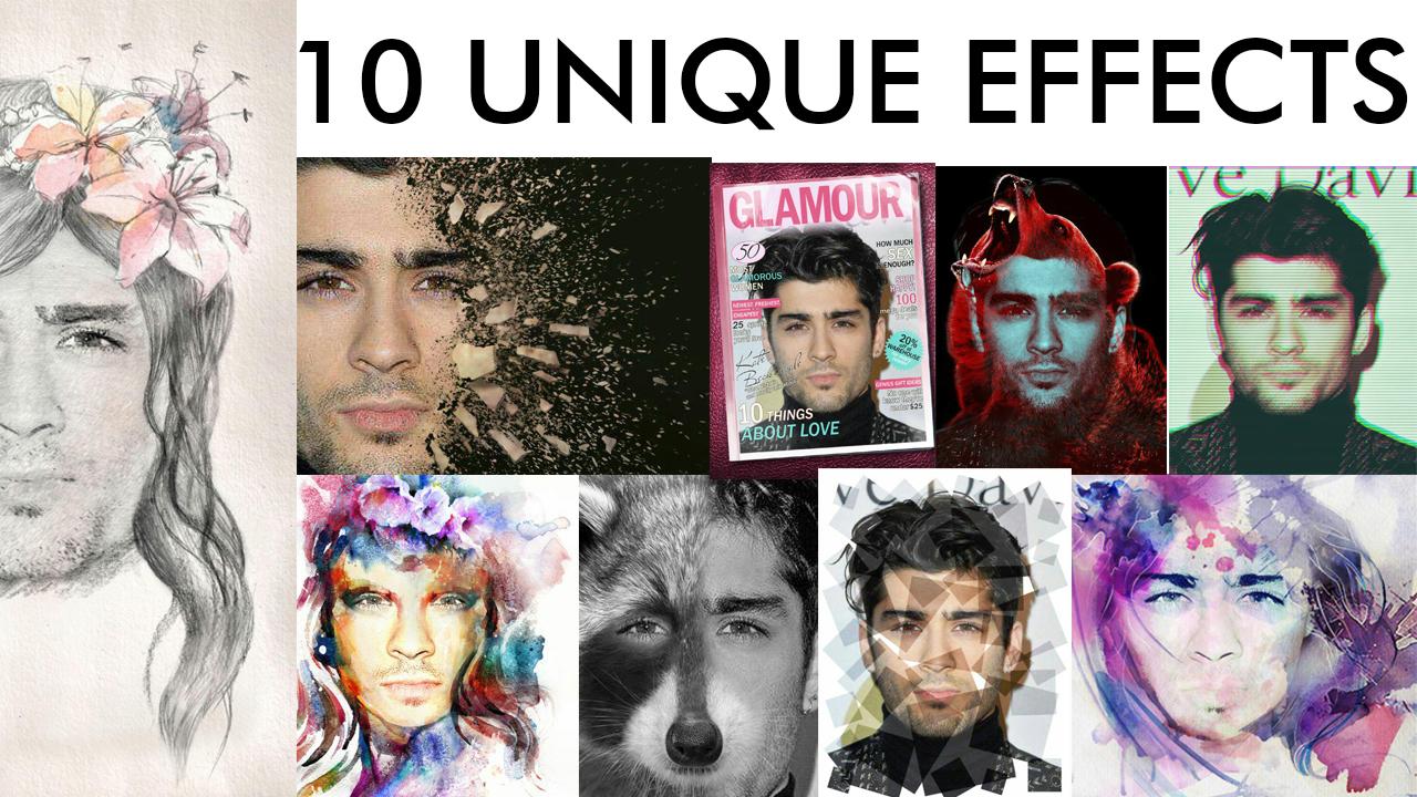 edit 2 Photos In 10 Unique Design