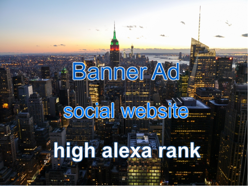 Add 728x90 Banner on Social Bookmarking Website,  High Alexa Rank