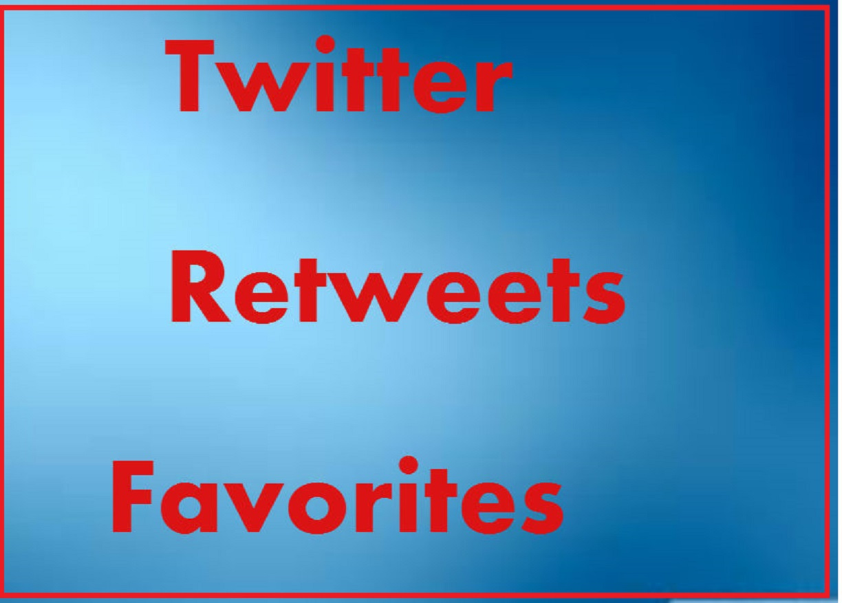 Twitter Promotion Instant 250 Favorites 250 Re-tweets