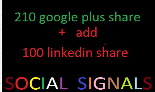 170 Google+ post share 150 linkedin. share 50 pinterest  top pack
