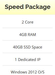 Windows VPS Renewable - 4GB RAM - 2 Core - 40GB SSD -...
